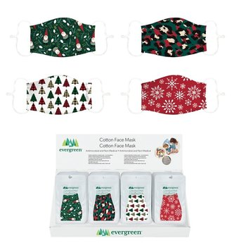 Holiday Print Cotton Face Mask (4-Styles)