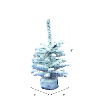Mini Flocked Pine Christmas Tree (2-Sizes)