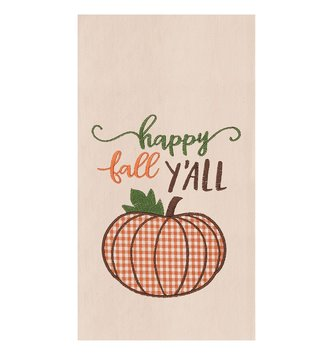 Happy Fall Y'all Pumpkin Towel