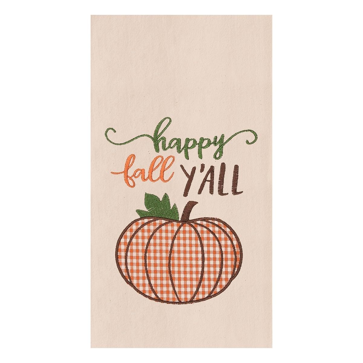 Happy Fall Y'all Pumpkin Towel