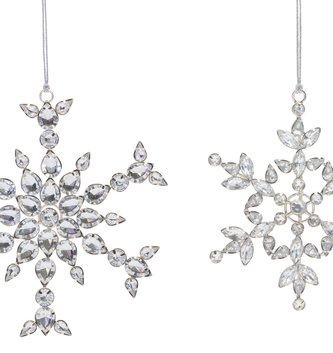 Jeweled Prism Snowflake Ornament (2-Sizes)