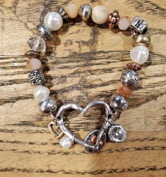 Multi-Beaded Charm Bracelet (3-Styles)