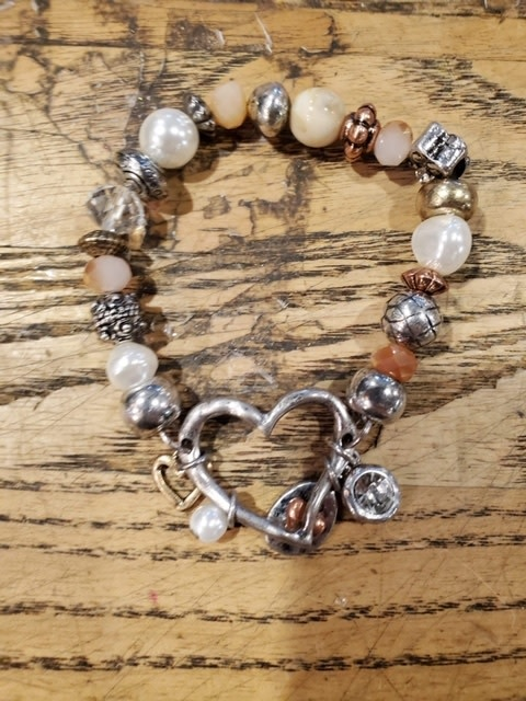 Multi-Beaded Charm Bracelet (3-Styles)