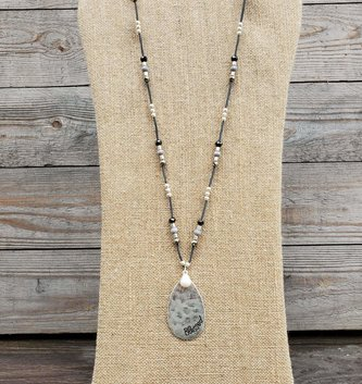Blessed Teardrop Beaded Necklace