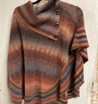 Rust Button Poncho (2-Sizes)