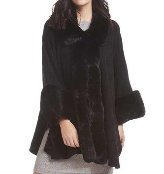 Fur Cape With Armholes (2-Colors)