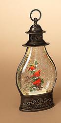 LED Bronze Cardinal Snow Globe Lantern(2-Styles)