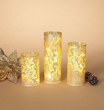 Set of 3 LED Glass Luminaries