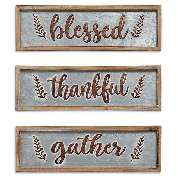 Embossed Harvest Wall Sign (3-Styles)