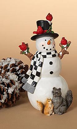 Snowman w/ Woodland Friends (2-Styles)
