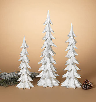 Set of 3 Majestic Snowy Christmas Trees