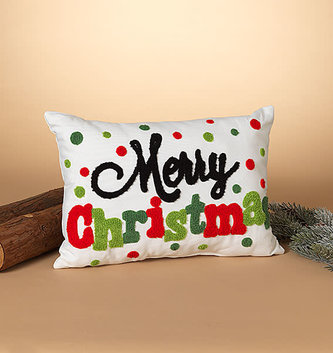 Whimsical Merry Christmas Pillow