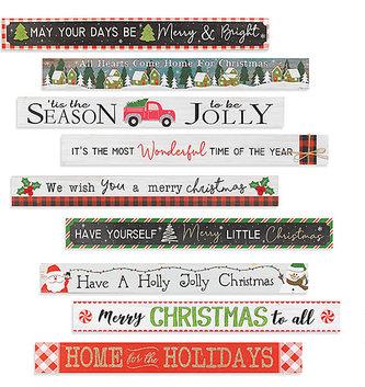 Christmas Celebration Block Sign (9-Styles)