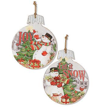 Snowman Ornament Wall Art (2-Styles)