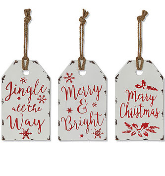 Metal Embossed Holiday Sign (3-Styles)
