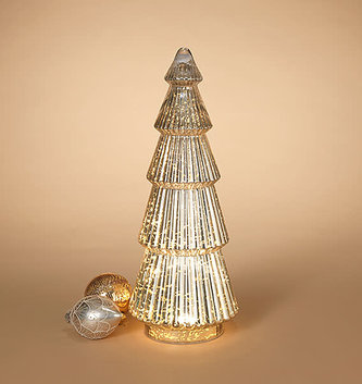 LED Mercury Glass Tree (2-Sizes)