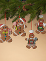 Gingerbread Man Ornament (4-Styles)