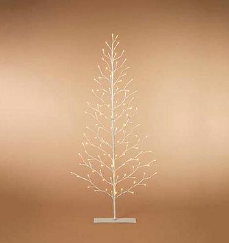 5' LED White Flat Tree
