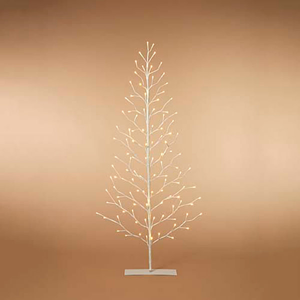 5' LED White Flat Tree