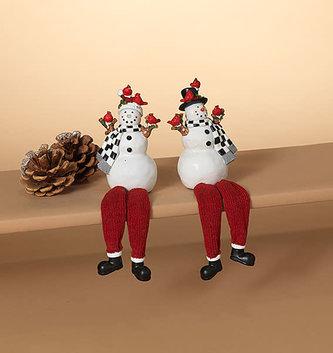 Cardinal Snowman Shelf Sitter (2-Styles)