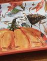Square Harvest Pumpkin Plate