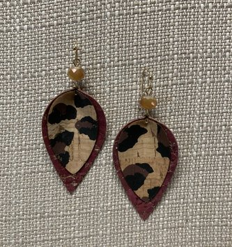 Cork Teardrop Earrings (3-Colors)