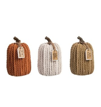 Harvest Rope Pumpkin (3-Colors)