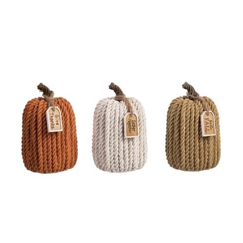 Harvest Rope Pumpkin (3-Colors)
