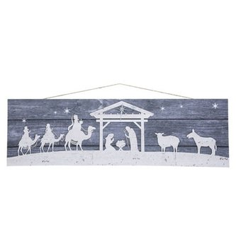 Horizontal Nativity Scene Print