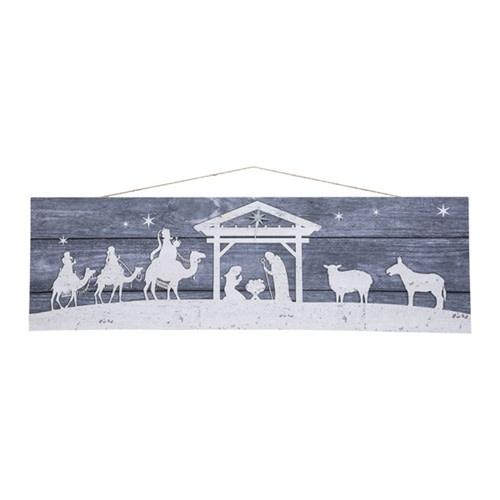 Horizontal Nativity Scene Print