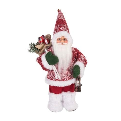 Tabletop Santa w/ Snowflake Sweater