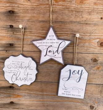 Christmas Verse Ornament (3-Styles)