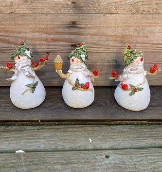 Snowman w/ Cardinal Friends (3-Styles)