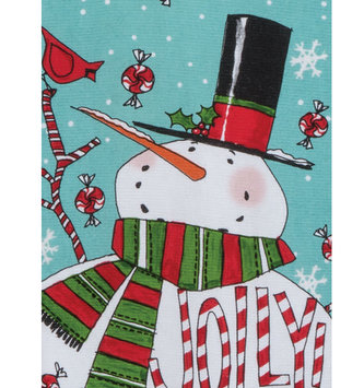 Jolly Snowman Kitchen Towel