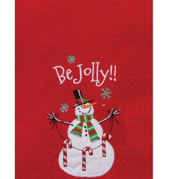 Holiday Be Jolly Snowman Towel