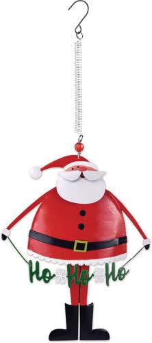 Hanging Bouncy Ho Ho Santa