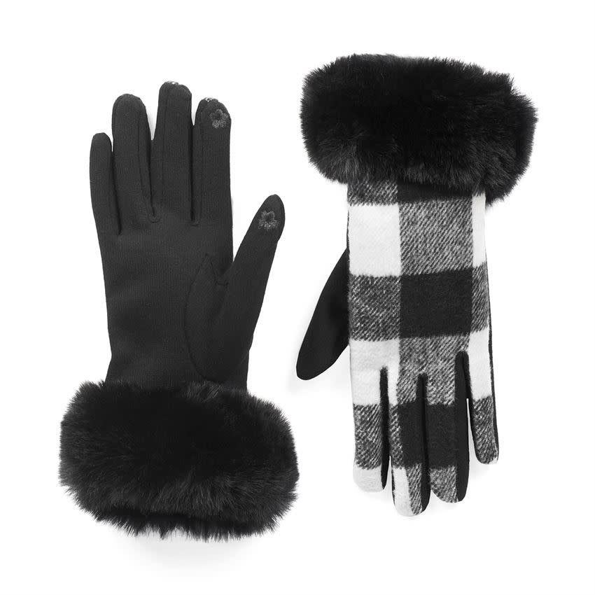Buffalo Plaid Touchscreen Gloves (2-Colors)