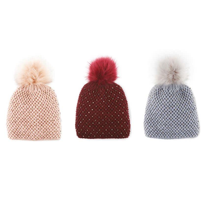 Krystal Pom Pom Hat