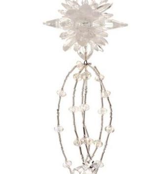 Clear Starburst Drop Ornament