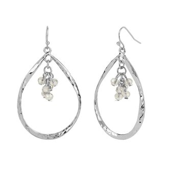 Silver Teardrop Dangle Earring