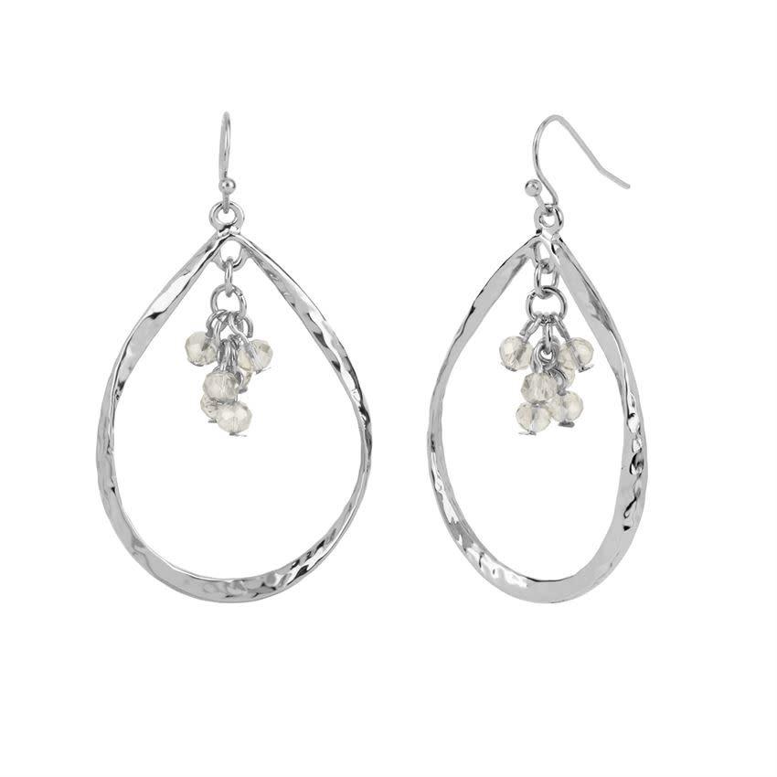 Silver Teardrop Dangle Earring