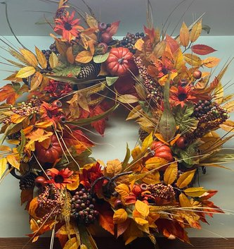 Custom Fall Wheat Gathering Wreath