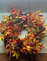 Custom Fall Wheat Gathering Wreath