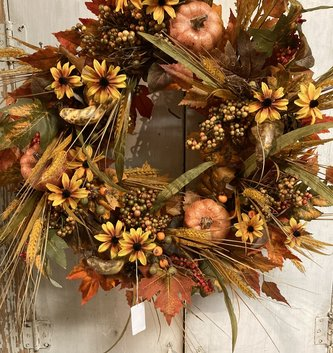 Fall Black-Eyed Susan Harvest Wreath