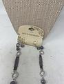 Silver Purple Mini Beaded Necklace & Earring Set
