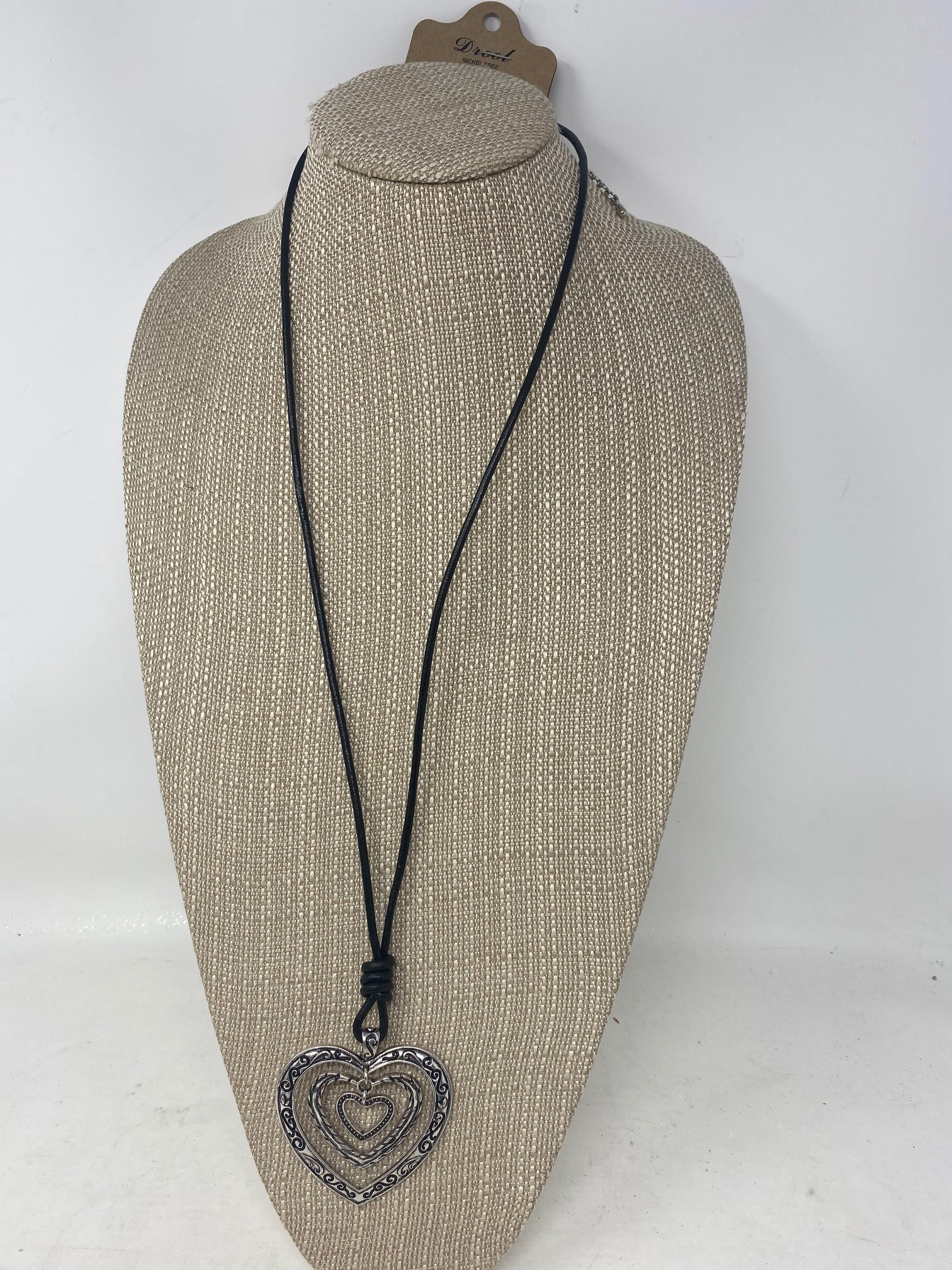 Triple Heart Leather Necklace