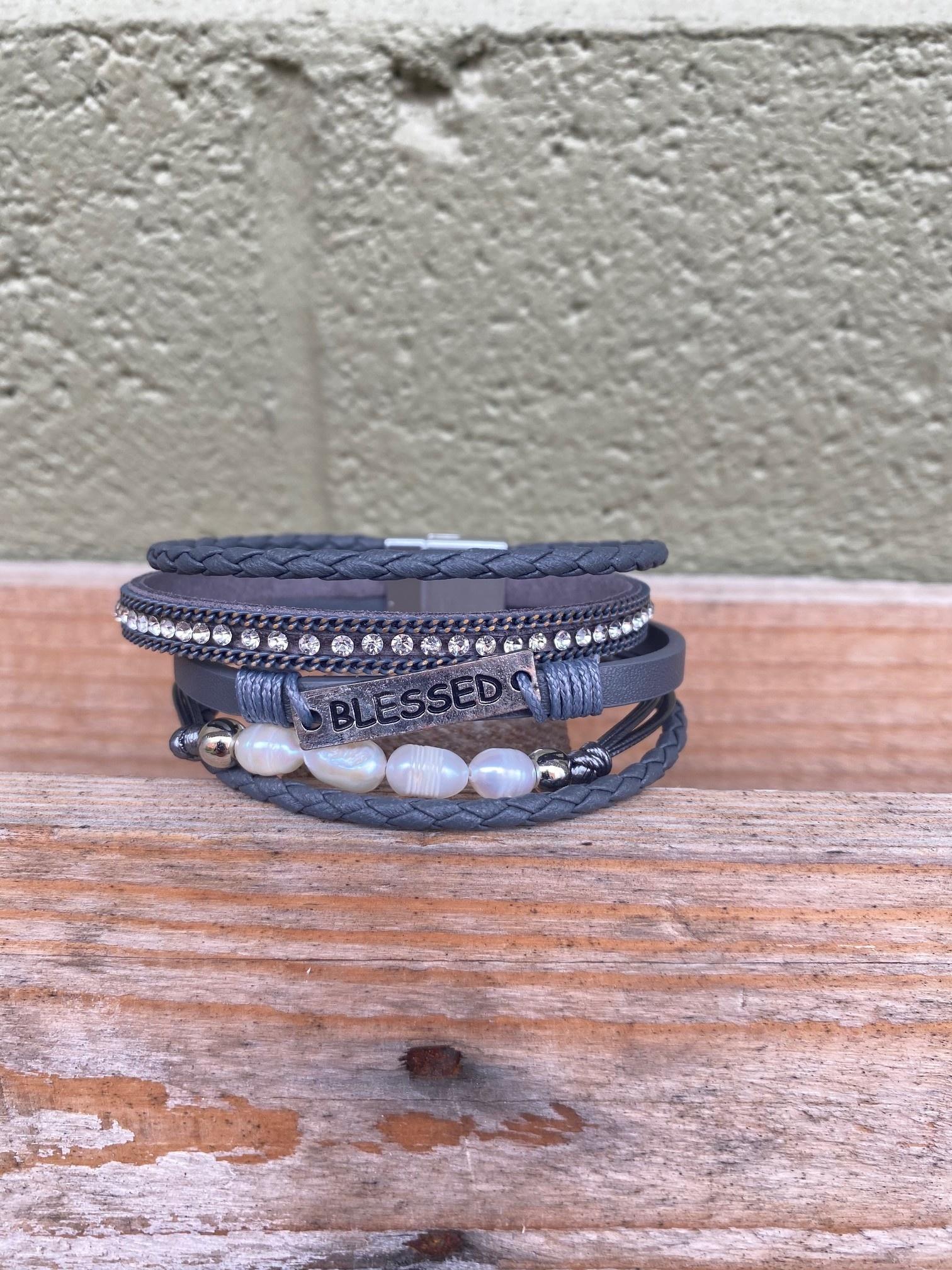 Multi Strand Blessed Leather Bracelet (3-Colors)