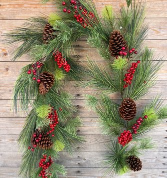 6-ft Sugar Cone Berry Garland