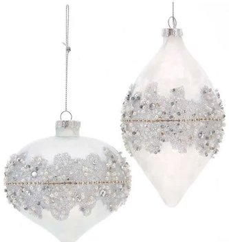 Silver Frosted Glass Ornament (2-Styles)