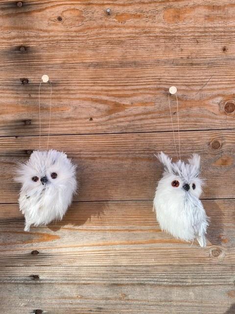Mini Fuzzy Gray Owl (2-Styles)